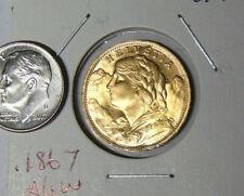 1935-LB Switzerland Helvetia Gold 20 Franc Swiss Coin Uncirculated