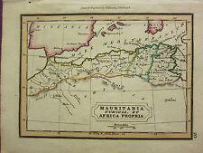 1832 SMALL ANCIENT MAP ~ MAURITANIA NUMIDIA ET AFRICA PROPRIA BALEARES