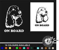 Cocker spaniel On Board  Vinyl Decal Sticker Van Window Laptop Funny vw honda