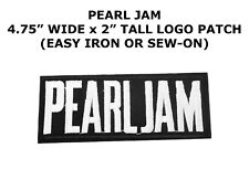 Pearl Jam Band Patch DIY Embroidered Heavy Gothic Metal Sew Iron On Music
