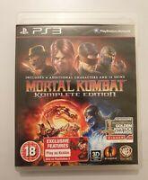 Mortal Kombat KOMPLETE EDITION PlayStation 3 Ps3 Pal EUR+audio español COMPLETO