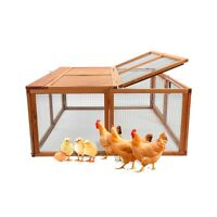 """45.7"""" Foldable Chicken Coop Rabbit Bunny Hutch Hen House Poultry Cage Pet Wooden"""