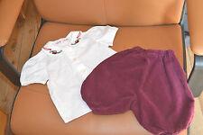 ensemble bonpoint 6 mois blouse pantalon le petit tambourin tres mimi