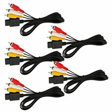 5X 6FT AV TV Video Cord Cable For Nintendo 64 N64 Game Cube Black