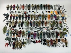 Vintage GI Joe Action Figure Lot 79 Figures and Mixed Accessories ARAH