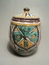 Petit Pot Couvert Céramique Tunisienne Qallaline Chemla Signature Poisson