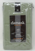 Damask Stripe 500 Thread Count 100% Egyptian Cotton King Pillowcases in Sage