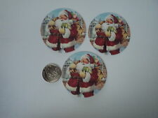 PK 6 ANITA'S CHRISTMAS JOLLY SANTA EMBELLISHMENT TOPPERS FOR CARDS OR CRAFTS