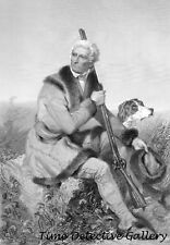 Engraving of Frontiersman Daniel Boone by Alonzo Chappel - Historic Art Print