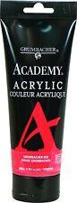 Academy Acrylic Paint, 200Ml / 6.8 Oz. Tubo De Plastico, Rojo (C0