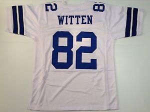 UNSIGNED CUSTOM Sewn Stitched Jason Witten White Jersey - M, L, XL, 2XL