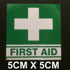 First Aid Decal 50mm x 50mm OH&S WHS boat car safety medical sticker