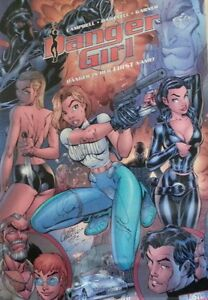 The Best (Signed) Danger Girl Poster Period!  1998 San Diego Comic Con Edition.