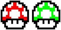 "Nintendo NES 8-bit Super Mario Bros. Mushroom 1up 4"" Vinyl Decals Sticker Emblem"