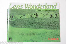 Canon FD Lens Wonderland Collection Sales Brochure - English 1982 USED B49