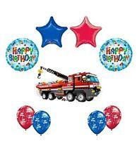 9 pc LEGO CITY Fire Engine Firetruck Birthday Party Fire Truck Balloon Kit Kit