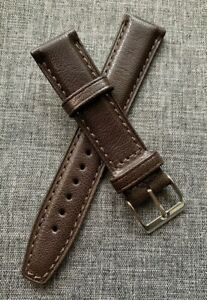 French Leather – Luxurious premium goat leather watch strap - Brown 18/20mm