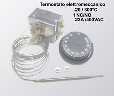Termostato elettromeccanico INOX con capillare inox regolazione -20° /+300° C