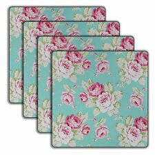 Wooden Floral Square Coasters