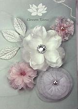 LITTLE BO PEEP Fabric Mixed Designs 4 Flowers 35-75mm across 3Leaves GreenTara 2