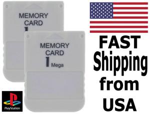 NEW Playstation 1 -  PS1 Memory Card X2