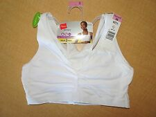 New - HANES Sport Pullover Sports Bra - 2 Pack  #H370 - White -Sizes 34 to 48