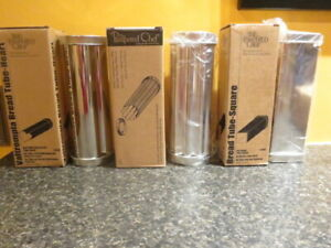 Lot of 3 Pampered Chef Bread tubes: Valtrompia, Square, Scalloped 1565 1560 1555