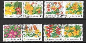 SINGAPORE SG949/56 1998 FLOWERS OF SINGAPORE FINE USED