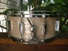 "Vintage Ludwig Snare Parts/ Hand Crafted 6""X14"" Shell"