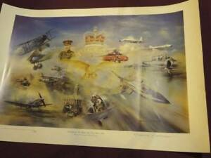 """TRIBUTE TO """"THE ROYAL AIR FORCE"""" 1918 to 1993 SIGNED BY RODERICK LOVESEY PRINT"""
