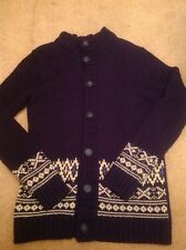 MENS NEW LOOK NAVY CARDIGAN SMALL