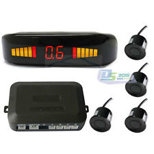 New Car LED Display Parking Reverse Backup Radar System with 4 Sensors Black Kit