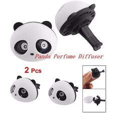 2pcs Auto Dashboard Air Freshener blink Lovely Panda Perfume Diffuser for Car