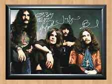Black Sabbath Ozzy Osbourne Rock Band Autographed Signed A4 Print Poster Photo
