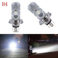 1PCS Motorcycle H4 HS1 COB LED Headlight Hi/Lo Beam Front Light Lamp Bulb White