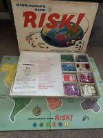 Vintage 1960s Risk Board Game Boxed Complete