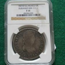 1821 Mexico Independence Silver 8 Reales D CG Durango