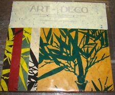 Bastelpackung mit 20 Blatt bedrucktes Bananenpapier 35 g/m²,5 Farben 15cm x 21cm