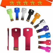 Flash Drive Pendrive 1MB-64GB USB2.0 Card Metal Key Shape Memory Stick Color lot
