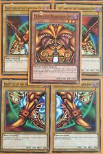 5 PIECES OF EXODIA THE FORBIDDEN ONE! LDK2-ENY04-08 1st Edition Mint