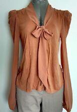MISS SELFRIDGE blouse size 8 long chiffon sleeves