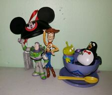 Disney Toy Story Buzz Woody Mouse Ear Alien Wheezy Tea Cup Ornaments Set Of 2