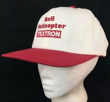 Vtg Bell Helicopter Textron Hat SnapBack Cap Made In USA Aerospace Company Logo