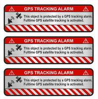 3er Set GPS Object Alu Schliff Aufkleber Folie Diebstahlschutz Alarm R057