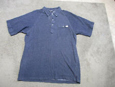VINTAGE Ralph Lauren Polo Jeans Polo Shirt Adult Extra Large Blue White Rugby