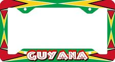 GUYANA LAND OF MANY WATER LICENSE PLATE FRAME
