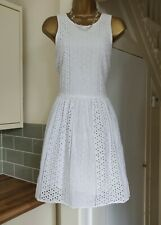 Superdry SD Premium White Broderie Anglais Dress Summer Size XL - UK 14