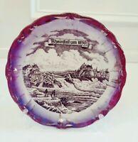 """Rheinfall um 1850 10"""" DECORATIVE PLATE JOHANN HAVILAND"""