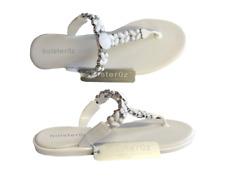 d67af9ba5965 Holster 0z White Jewelled Shoe Sandal Size UK 4 - 8