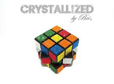Bling CRYSTALLIZED Playable Rubik's Rubix Cube Game Made with Swarovski Crystals